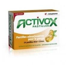 ARKOPHARMA ACTIVOX MIEL-CITRON 24 PASTILLES