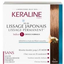 KERALINE kit de lissage japonais Indice 1 Cheveux Normaux
