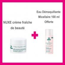 NUXE Crème fraîche de beauté avec Eau Démaquillante Micellaire 100 ml Offerte