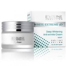 EVELINE WHITE EXTREME 3D Crème De Nuit Eclaircissante Anti-Rides 50 ml