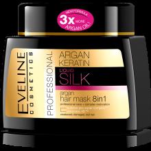 EVELINE ARGAN KERATINE SILK Masque pour cheveux 8en1 500 ml