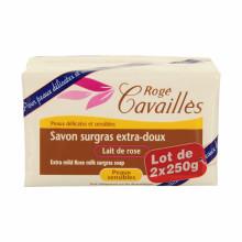 ROGE CAVAILLES SAVON PARFUME Lait De Rose 250 g lot de 2