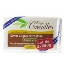 ROGE CAVAILLES SAVON PARFUME Amande Verte 250 g  X 2