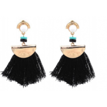 MILETT ACCESSORIES Boucles FRANGES NOIR