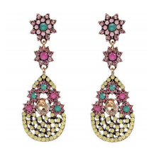 MILETT ACCESSORIES Boucles SPARKLE BLEU