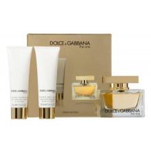 OFFRE DOLCE GABBANA THE ONE Eau de Parfum 75 ml avec Lait pour le corps 50 ML et Gel douche 50 ML OFFERTS