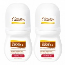 OFFRE ROGE CAVAILLES HOMME ABSORB+ DEO REGULATEUR 48H ROL-ON LOT DE 2