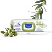 MUSTELA Lingettes nettoyantes bébé à l'huile d'olive