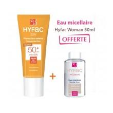 OFFRE HYFAC SUN Protection Solaire TeintéePSPF50 40ML avec Eau Micellaire 50ML OFFERTE