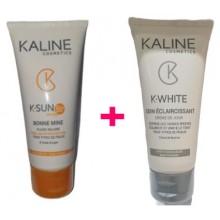 OFFRE KALINE Crème Solaire Bonne mine  SPF 50  50ML  avec Soin Crème Éclaircissant OFFERT