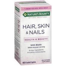 NATURE'S BOUNTY Cheveux Peaux et Ongles 60 Gelules