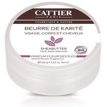 CATTIER BEURRE DE KARITÉ FLEUR DES ILES BIO 100 G