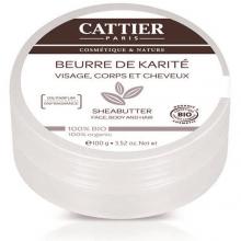 CATTIER BEURRE DE KARITÉ NATURE 100 % BIO100 G