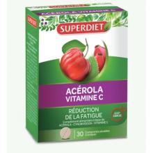 SUPERDIET ACEROLA VITAMINE C 30 COMPRIMÉS