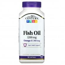 21St CENTURY Huile de poisson 1200 mg 90 capsules