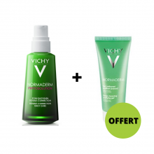 OFFRE VICHY PHYSOLUTION NORMADERM Soin Quotidien Double Correction 50 ml avec NORMADERM Gel Nettoyant 50ml OFFERT
