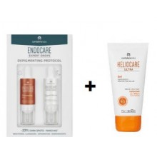 OFFRE ENDOCARE EXPERT DROPS DEPIGMENTING PROTOCOL 2X10ML avec HELIOCARE GEL ULTRA SPF 90 OFFERT