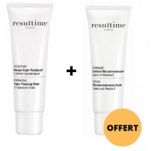 OFFRE RESULTIME  Masque Super Repulpant 50 ML avec RESULTIME Gommage Lissant 50 ML OFFERT