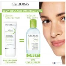 OFFRE BIODERMA SEBIUM Pore Refiner 30 Ml avec Sébum H2O 250ml OFFERT