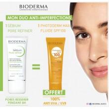 OFFRE BIODERMA SEBIUM Pore Refiner 30 ML avec PHOTODERM  SPF100 OFFERT