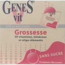 GENES Vit Grossesse 16 Comprimés Effervescents